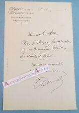 L.A.S M. BANNEL - Olympia - Parisiana - lettre billet autographe LAS