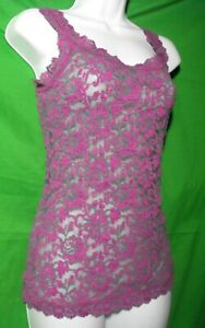 NEW HANKY PANKY 594624 GRAT SIGNATURE CROSS-DYED MADE IN USA LACE CAMISOLE M