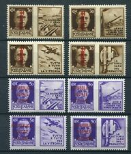 ITALY SOCIAL REPUBLIC 1944 WAR PROPAGANDA 10-17 RARE RED BROWN OVPT PERFECT MNH