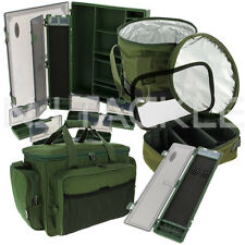 NGT FISHING GREEN LUGGAGE SET CARRYALL RIG WALLET LEAD BAG TACKLE BOX BAIT BIN