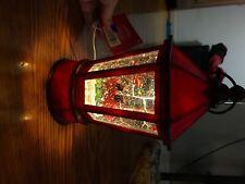 Red Cardinals Musical Lighted Snow Globe Birds Acorns Water Globe