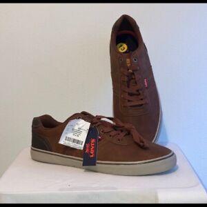 LEVI's Men's Low Sneaker Sz 13 Tie Boat Shoe Vegan Leather NWT