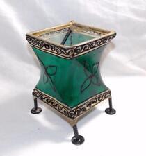 Fair Trade Marocchina in Metallo e Pelle HENNA Lampada Lanterna da Marocco Marrakech