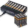 Rechargeable AAA / AA Batteries and 8-Way Charging Dock - Venom Power