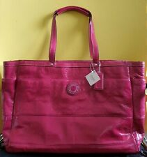 LOW BID! US$458 Authentic Coach PATENT Large baby diaper bag F19256