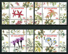 St Maarten 2016 MNH Flowers Series I 4x 1v S/S Nos 1-4 Plants Nature Stamps