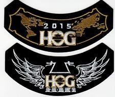2015 & 2016 HOG Members Rocker Patches HARLEY DAVIDSON OWNERS GROUP HD MC club