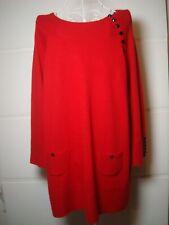 NOUGAT LONDON women's knitwear cashmere blend blouse top size UK 12 EU 40 red