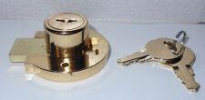 Lot of 4   Disc Tumbler Drawer Lock - Keyed Alike  ( Bright Brass )