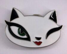 Cat White Feline Kitten Felidae Female Queen Winking New Belt Buckle cc