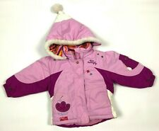 GAGOU TAGOU Toddler Girls 2T Jacket Pink Purple Hooded Winter Miss Butterfly