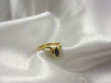 Wunderschön verarbeiteter Ring aus Gold 750 mit Brillant & Saphir