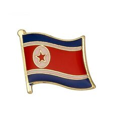 NORTH KOREA FLAG ENAMEL PIN BADGE KOREAN KIM JONG-UN  BRAND NEW FREE POST