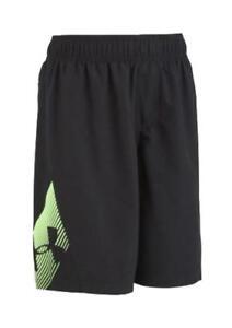 Under Armour Boys Black & Neon Lime Swim Short Size 5