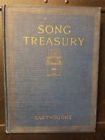 SONG TREASURY, Cartwright, 1927, The MacMillan Company, New York, Book Hardcover