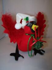 "Annalee 8"" Christmas Cardinal with Kissing Mistletoe Wreath NEW 2007"