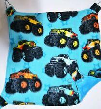 Handmade Fleece Chinchilla Rat Ferret Degu Sugar Glider Hammock Monster Trucks