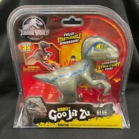 Jurassic World Heroes of Goo Jit Zu VELOCIRAPTOR BLUE DINOSAUR In Hand Fast Ship