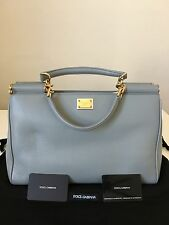 Dolce&Gabbana Miss Sicily 2 Handbag in Grey