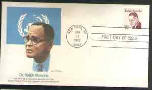 US. 1860. 20c. Ralph Bunche, Great Americans. Fleetwood FDC. MNH. 1980