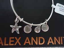 ALEX and ANI STARFISH II Rafaelian Silver Finish Bangle New W/Tag Card & Box