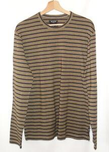 Todd Snyder - T-Shirt M.Long Cotton Brown Khaki & Navy Blue M=44/46 - New