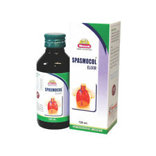 Wheezal Homeopathic Spasmocol Elixer Syrup dilutethick and stringy mucus 120ml