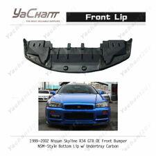 Carbon Kit For 99-02 Nissan Skyline R34 GTR OE Bumper NSM Front Lip w/ Undertray