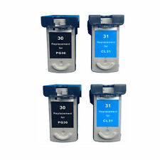 Ink Cartridge for Canon PG-30/CL-31(2 Black/2 Color) use in Canon iP1800 Printer