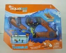 Hexbug Aquabot 2.0 The Harbour with Inner Glow Shark Fish Crane Tank NIB