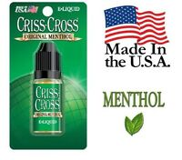 Menthol Criss Cross Vape Vapor USA 10ML Bottle (18 MEDIUM) - $4.99