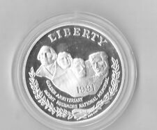 1991 S  Mt. Rushmore Golden Anniversary Proof Silver Dollar, FREE SHIPPING