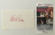 Ursula Andress Signed Autographed 3x5 Card JSA Certified
