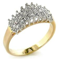Ah! Jewellery® Outstanding Quality Simulated Diamonds Ring Gold Electroplated