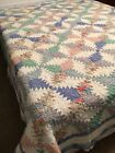 """VINTAGE PINEAPPLE QUILT- Arch Hawthorn NY  92"""" x 88"""" #660"""