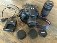 *FREE SHIPPING* Canon EOS 1200D/Rebel T5 18.0MP DSLR Camera+18-55mm/55-250mm