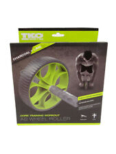 Tko Core Training Workout Ab Exercise Wheel, Charcoal/Lime
