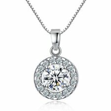 Rhinestone Necklaces Crystal Pendant for Date Weeding Party Women Jewelry