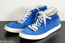 SCHOTT NYC Perfecto Blue/White Leather Hi-Top Sneakers -Euro 38 (UK 5)