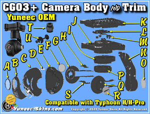 "Yuneec Parts CGO3+ Cameras ""Choose from 21 Individual CGO3+ & CGO3 Parts"""