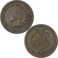 1908 S Indian Head Cent F Fine Bronze Penny 1c US Coin Collectible