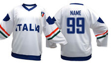 Team Italy White Ice Hockey Jersey Custom Name and Number