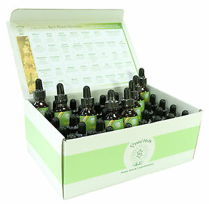 Complete set of 25ml Bach Flower Remedies in a Card Box
