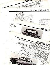 1966 1967 1968 FORD FALCON MOTOR'S ORIGINAL BODY PARTS FRAME CRASH ILLUSTRATIONS