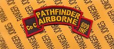 US Army Co C 509th Pathfinder Airborne Detachment Infantry scroll patch