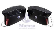 Large Mutazu Universal Detachable Hard Motorcycle Saddlebags Bags Vivid Black