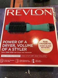 Revlon One Step  Hair Dryer Volumizer Max Drying Power Brush Mint