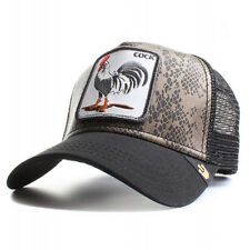 "Goorin Bros. Animal Farm Trucker Snapback Hat Tropical PU Snakeskin/Black/""Cock"""
