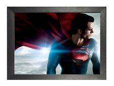 El Hombre De Acero Superhéroe cartel de la película Superman Estrella de impresión de imágenes foto Warner Bros