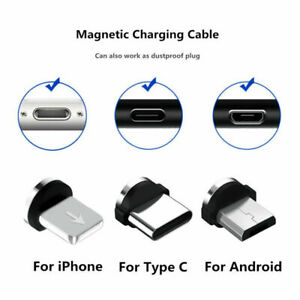 3in1 Pcs Magnetic Cable Plug Micro USB Type C IOS Plug Magnet Connector